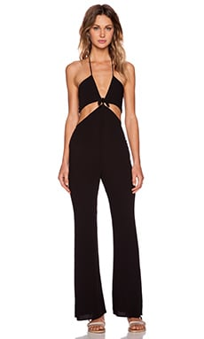 For Love & Lemons Summer Love Jumpsuit in Black