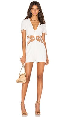 For Love & Lemons Elenora Romper in White