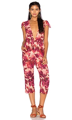 For Love & Lemons Sweet Jane Jumpsuit in Rosey Floral