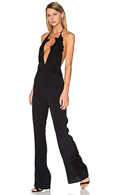 For Love & Lemons Laney Lou Jumpsuit in Black