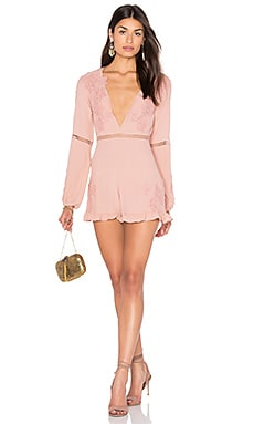 Lilou Floral Romper in Dusty Pink