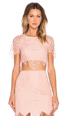 Luna Crop Top in Blush