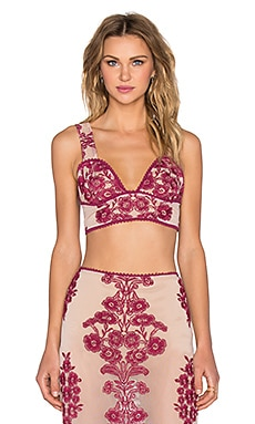 For Love & Lemons Temecula Crop Top in Wine