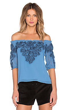 For Love & Lemons Sicily Top in Deep Sky Blue