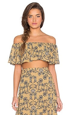 Pia Crop Top in Mustard
