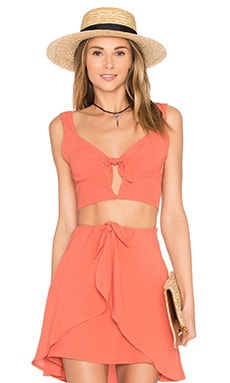 For Love & Lemons Sweet Jane Top in Terracotta