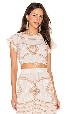 For Love & Lemons Winona Top in Vintage Ivory