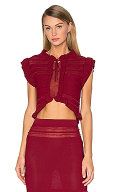Rivington Crop Top in Raspberry
