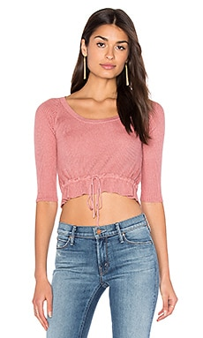 For Love & Lemons KNITZ Delancey Top in Vintage Rose
