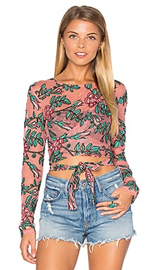 Orchid Crop Top in Mauve Floral