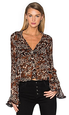Gracie Blouse en Chocolate Floral
