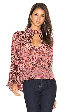 Saffron Blouse in Sunset Floral