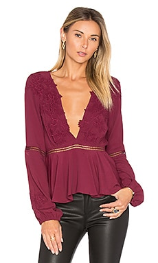 x REVOLVE Deep V Top in Wine