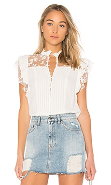 Rosebud Embroidery Blouse