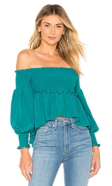 X REVOLVE Off The Shoulder Blouse For Love & Lemons $68