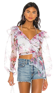 33de8dfad3015d X REVOLVE Ruffle Wrap Top For Love & Lemons ...