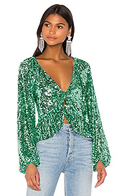 Madeleine Sequin Top For Love & Lemons $163 NEW ARRIVAL