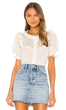 Pearl Button Up Sweater For Love & Lemons $172
