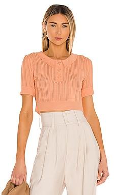 Phoebe Pointelle Polo Sweater For Love & Lemons $114