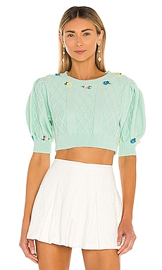 Sutton Cropped Sweater For Love & Lemons $150