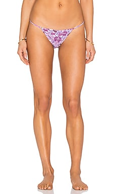 For Love & Lemons Tiny Tanlines Bikini Bottom in Orchid Print