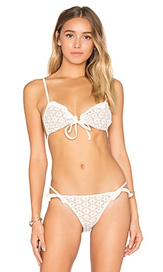 Alicante Lace Triangle Top in Ivory Lace