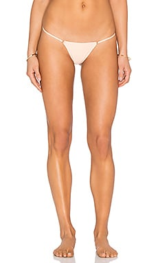 For Love & Lemons Tiny Tanlines Thong Bikini Bottom in Peach