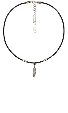 Feather Ransom Choker en Noir