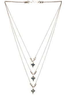 Frasier Sterling Three Tier Dakota Necklace in Moonstone