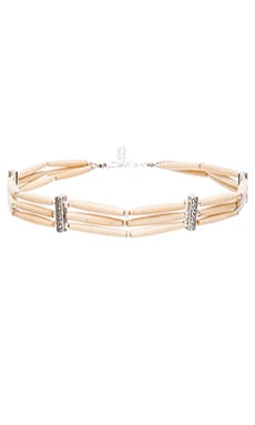 Frasier Sterling Big Bear Choker in Cream