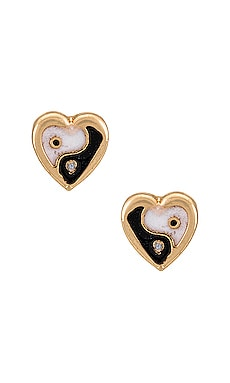Yin Yang Studs Frasier Sterling $26 NEW