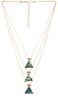 Frasier Sterling Three Tier Dakota Necklace in Gold
