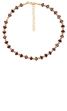 Frasier Sterling Dazed & Confused Choker in Garnet