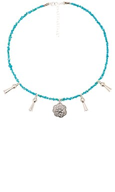 Frasier Sterling Squash Blossom Necklace in Turquoise