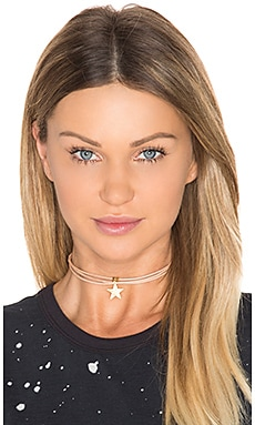 3 Wrap Ransom Choker in Tan Star