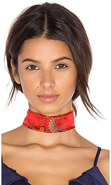 Shanghai Choker in Red