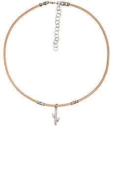 Frasier Sterling Cactus Ransom Choker in Tan