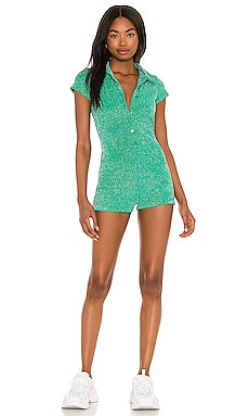 Rose Terry Lurex Romper Frankies Bikinis $150 NEW