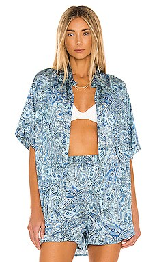 Fifi Silk Top Frankies Bikinis $185 BEST SELLER