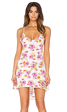 Frankies Bikinis Lina Dress in Tropical Bouquet