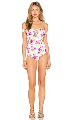 Frankies Bikinis Brooklyn One Piece in Tropical Bouquet