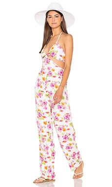 Frankies Bikinis Phoenix Jumpsuit in Tropical Bouquet
