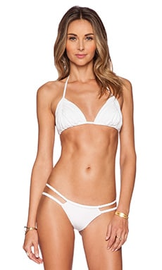 Frankie's Bikinis Frankie Bikini Top in Seashell