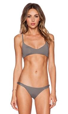 Frankie's Bikinis Malibu Bikini Top in Charcoal