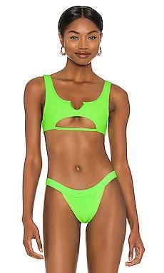 Cole Ribbed Bikini Top Frankies Bikinis $90 NEW