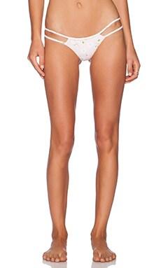 Frankie's Bikinis Ocean Side Bikini Bottom in Pink Pansies