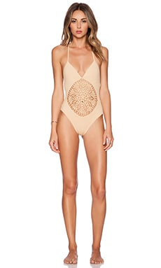 Frankie's Bikinis Poppy Swimsuit in Nude