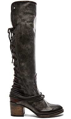 Freebird by Steven Coal Boot in Black Leather