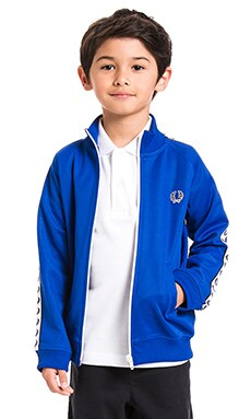 Fred Perry Laurel Wreath Tape Track Jacket in Regal