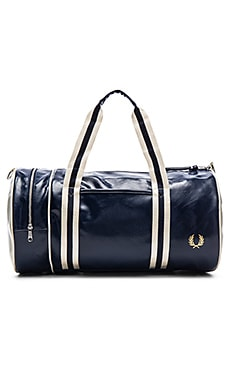 Fred Perry Classic Barrel Bag in Navy & Ecru